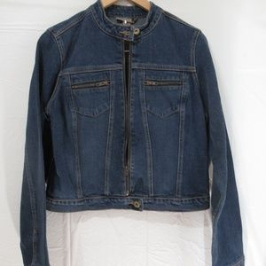 Forever 21 Jean Jacket Color Blue Size L zips up